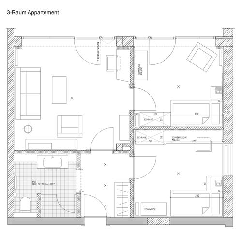 Grundriss Doppelzimmer